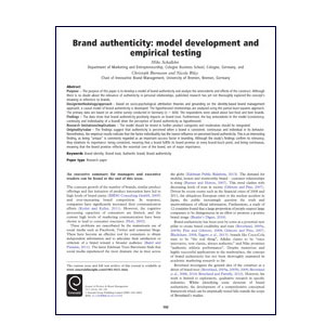 Brand authenticity journal article